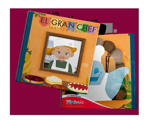 El gran chef - Crea tu libro personalizado para niños en Materlu.com. Elija  libros de cuentos infantiles personalizados y agregue una foto, los mejores  regalos de cumpleaños para sus hijos.